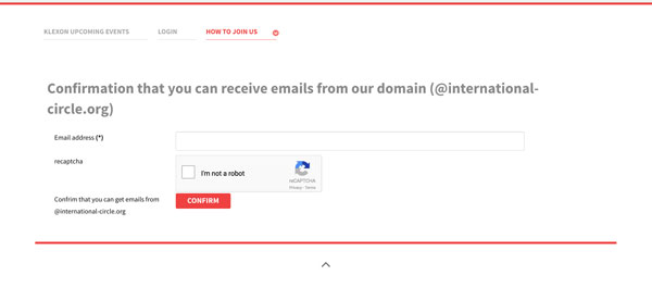 Please confirm you can receive emails from domain @international-circle.org